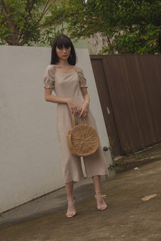 Take It Easy Midi in Khaki Brown