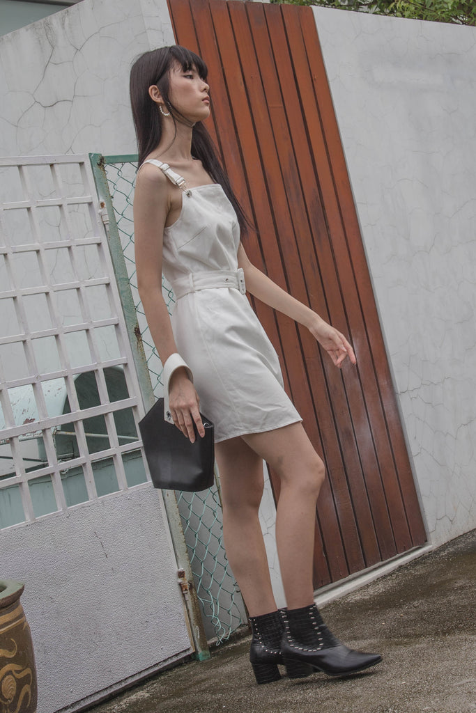 Over It Dress in White
