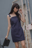 Over It Dress in Dark Wash
