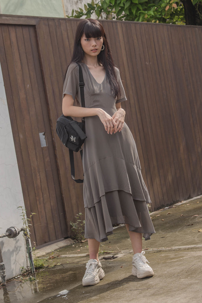 Double Take Maxi in Seal Grey