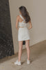 *Back Order* Horizontal Skirt in White