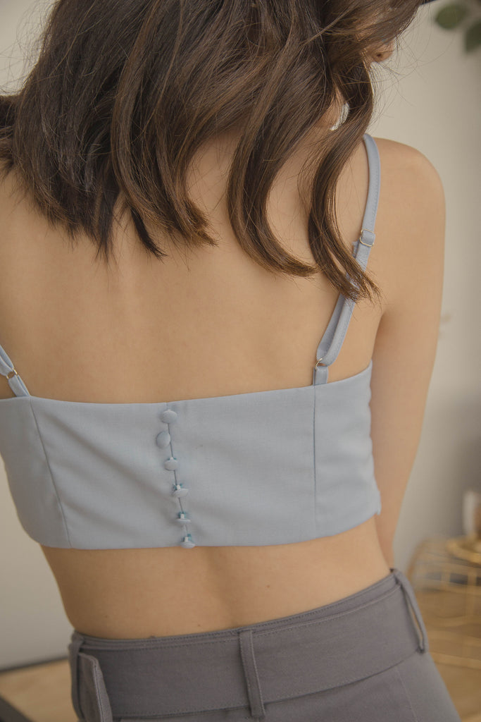 Triad Bralet in Mist Blue