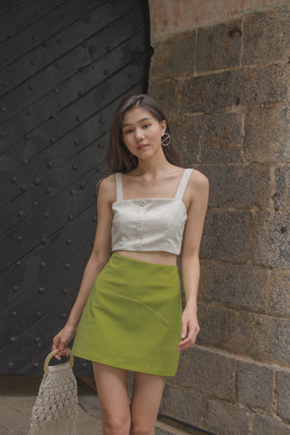 Polygon Top in Dull Avocado