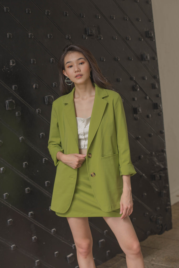 Vertical Blazer in Kiwi Green