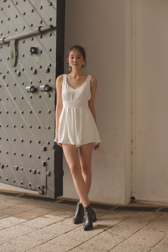 Fun and Games Romper in White