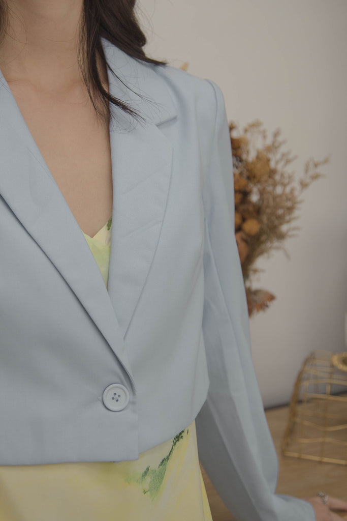 Threefold Blazer in Mist Blue