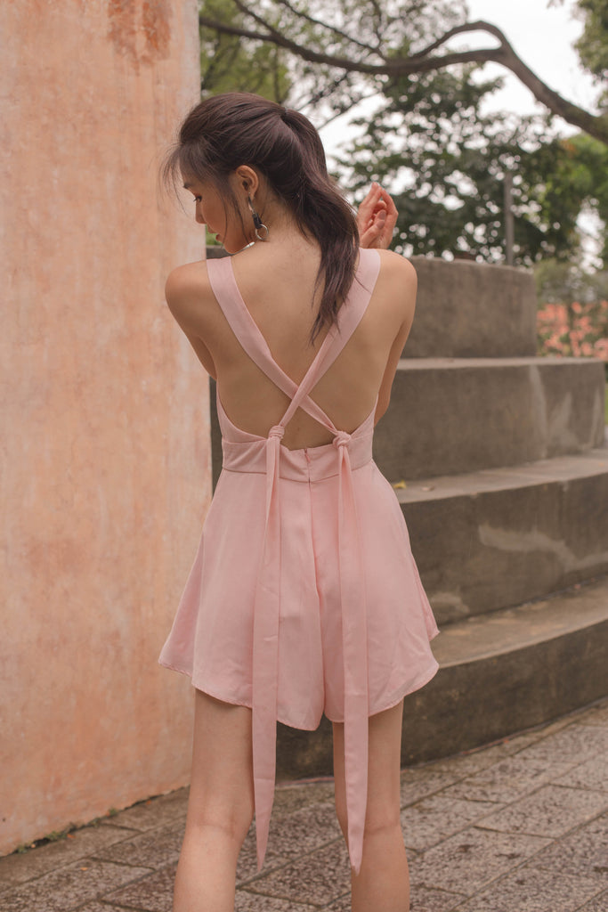 Fun and Games Romper in Pale Pink