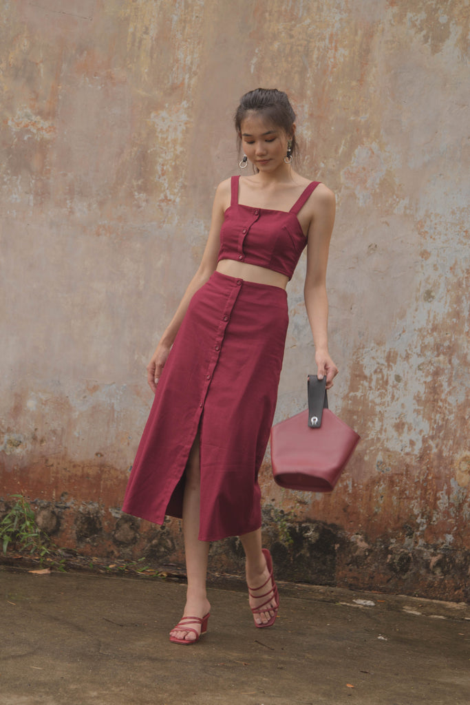 Day to Day Skirt in Maroon