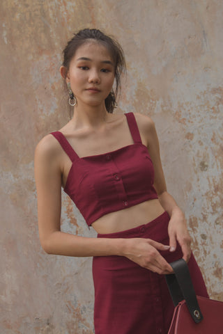 Mandarin Bralet in Rose Pink