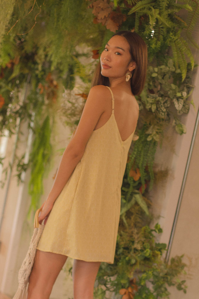 Coastal Cami Dress in Yellow