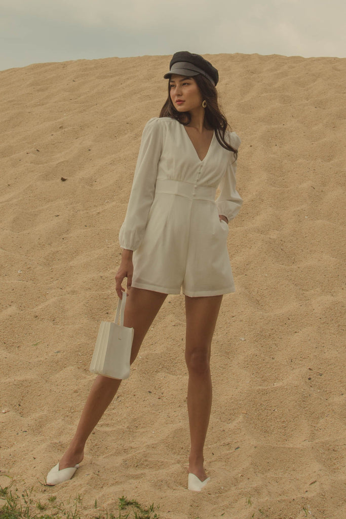 Renaissance Romper in White