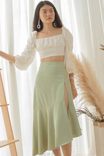 Go With The Flow Skirt in Soft Green