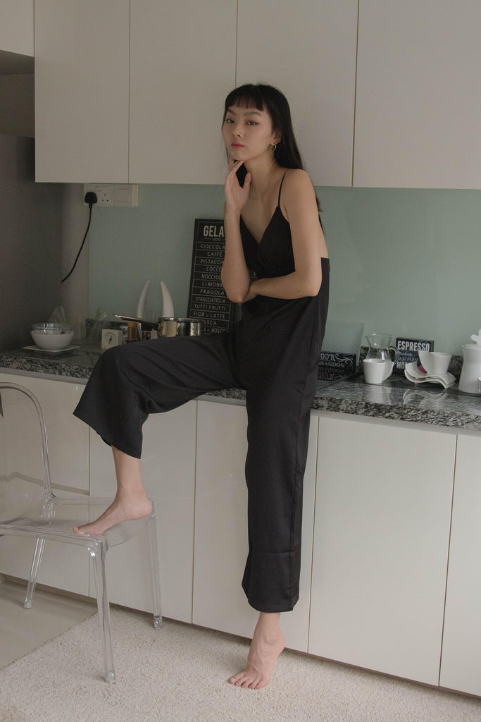 Lights Out Jumpsuit in Black
