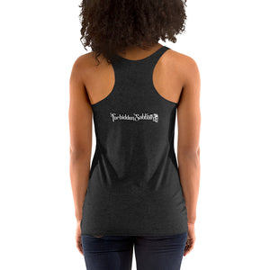 CIGAR SMOKEN TRIO SKULL-WOMEN'S RACERBACK TANK TOP
