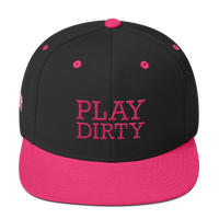 PLAY DIRTY-PINK ON BLACK SNAPBACK
