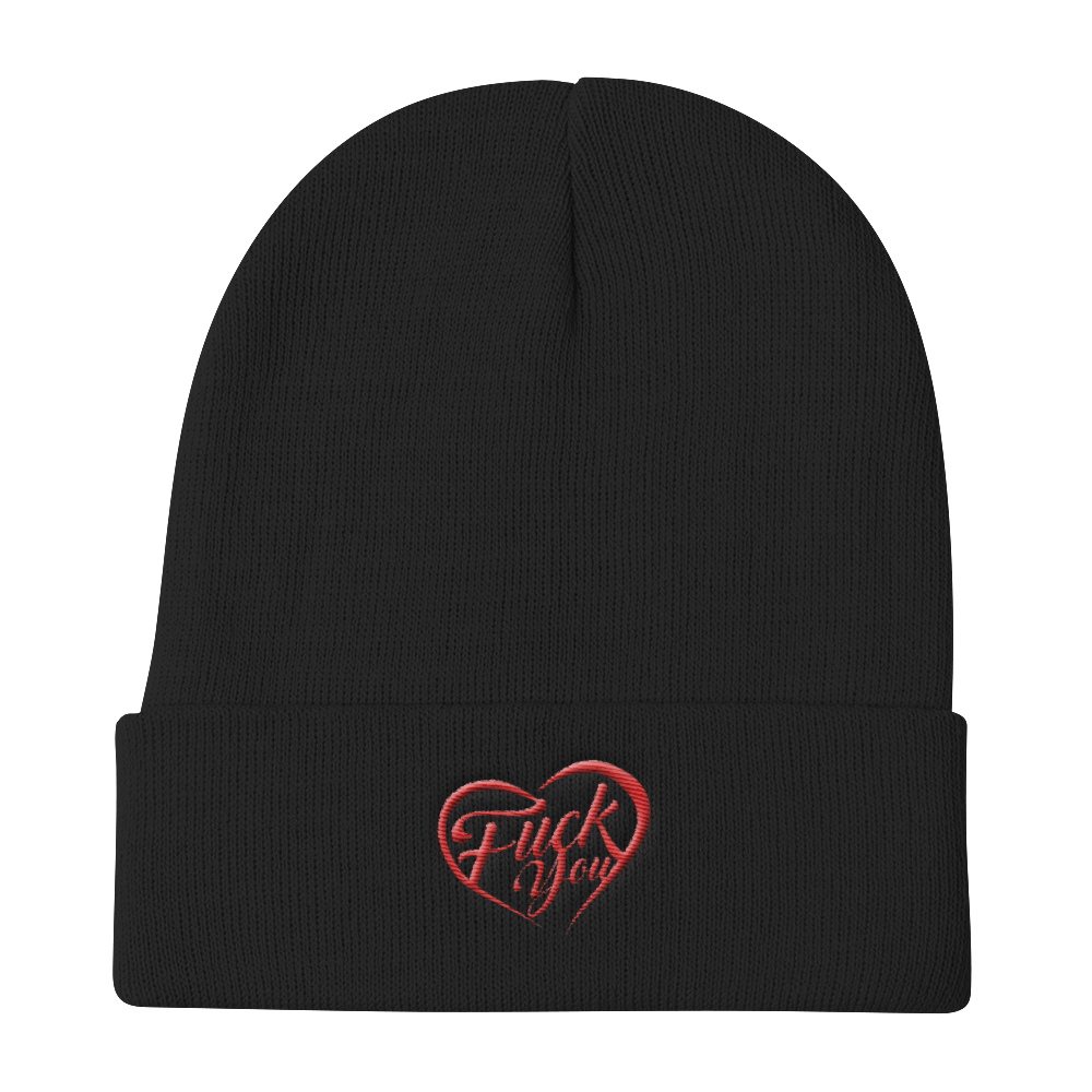 Fuck You Heart Knit Beanie