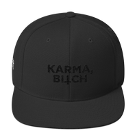 Karma Bitch, Wool Blend Snapback