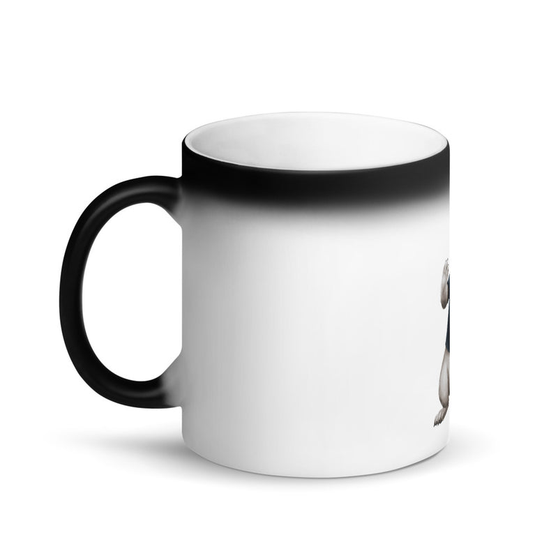 "JET ""THE RABBIT"" MATTE BLACK MAGIC MUG"