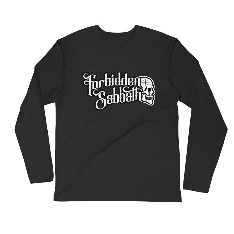 Forbidden Sabbath Logo-Long Sleeve Fitted Crew