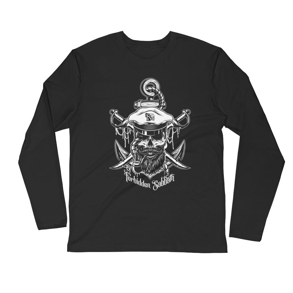 Sea Captain-Long Sleeve Fitted Crew