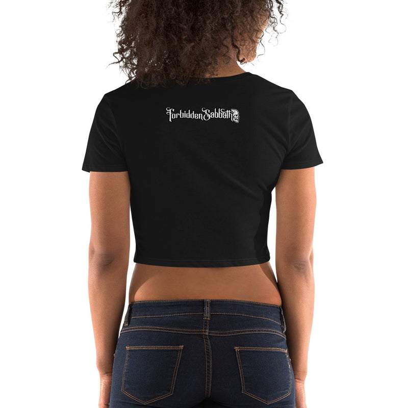 FORBIDDEN SABBATH LOGO-WOMEN'S CROP TOP