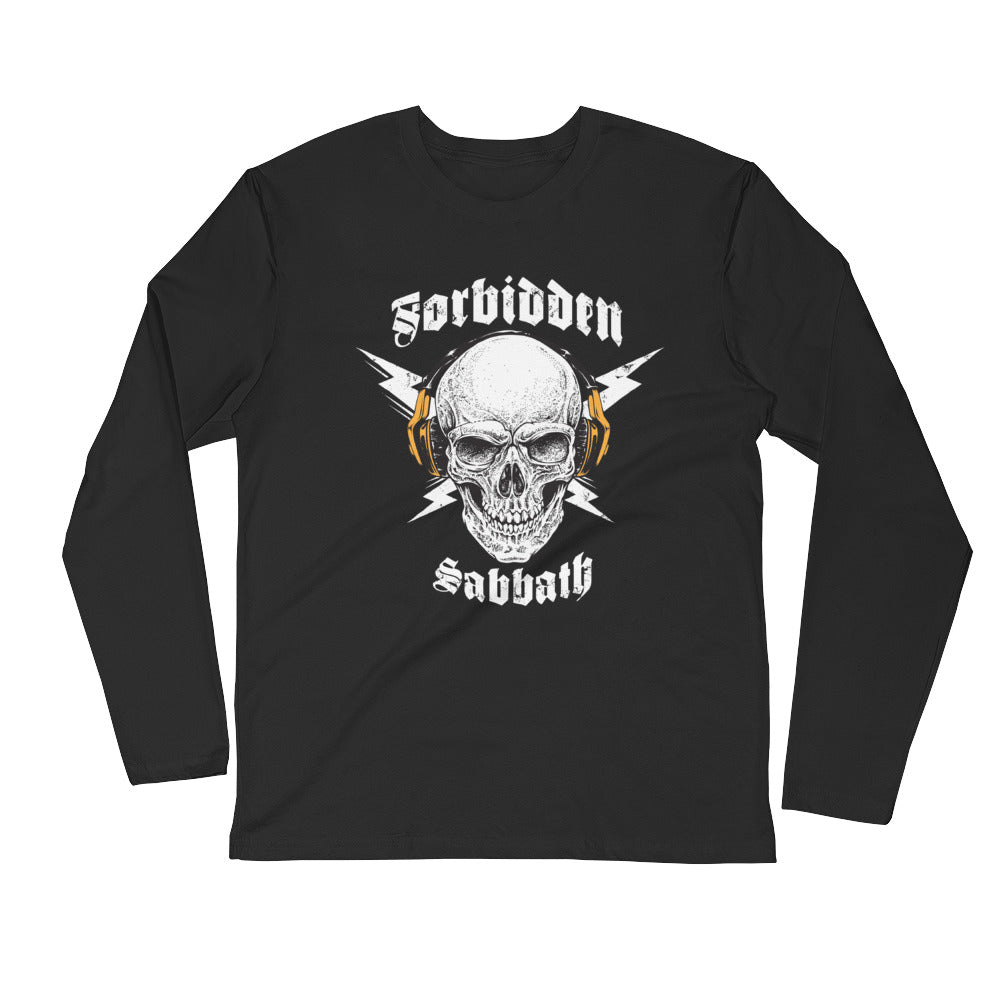 HI-FI Skull-Black & Gold-Long Sleeve Fitted Crew