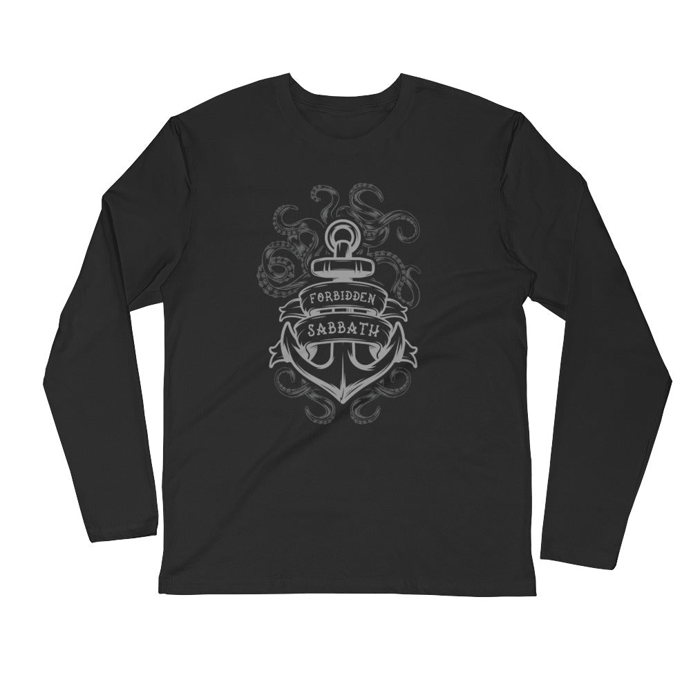 The Kraken-Long Sleeve Fitted Crew