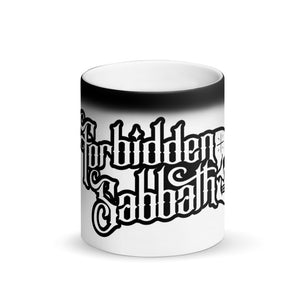 FORBIDDEN SABBATH Logo-MATTE BLACK MAGIC MUG