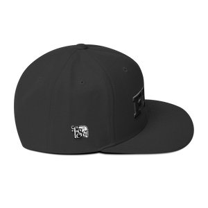 FUCK-BLACK ON BLACK-WOOL BLEAND SNAPBACK