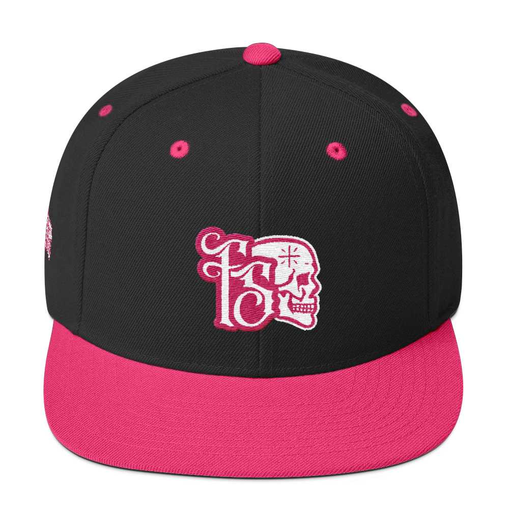 FORBIDDEN SABBATH ICON-PINK ON BLACK-WOOL BLEND SNAPBACK