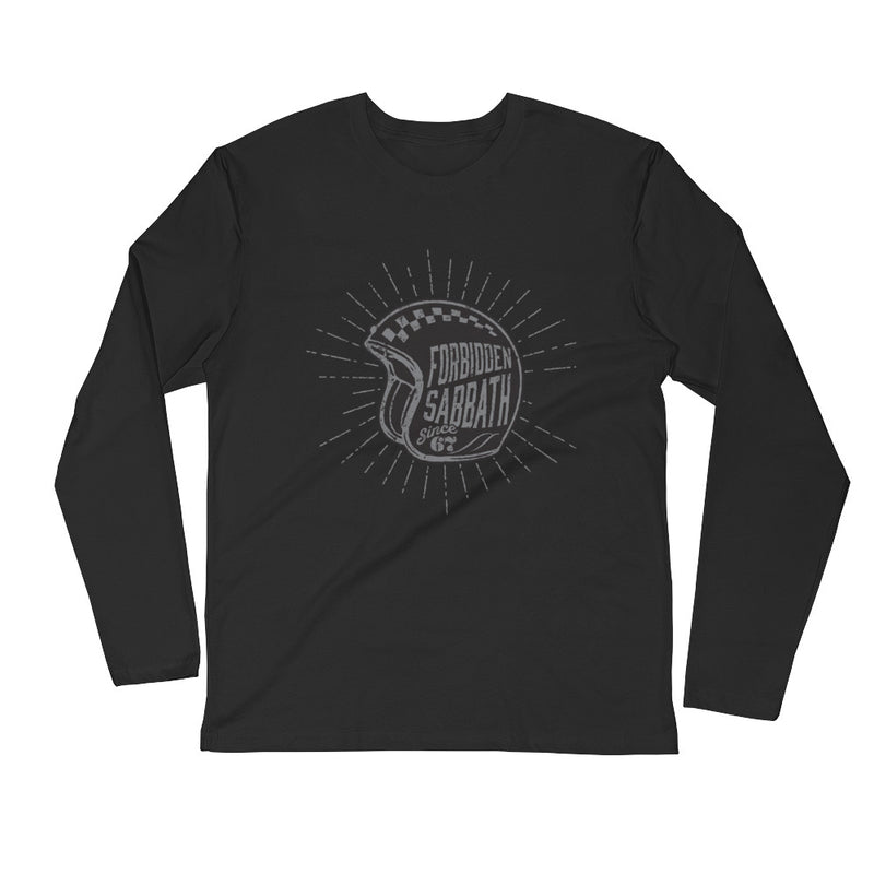 Cafe Racer-Retro Hemet-Long Sleeve Fitted Crew