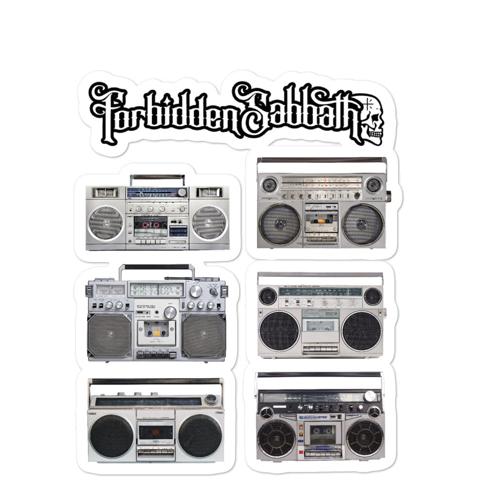 BOOM BOX- BUBBLE FREE STICKERS