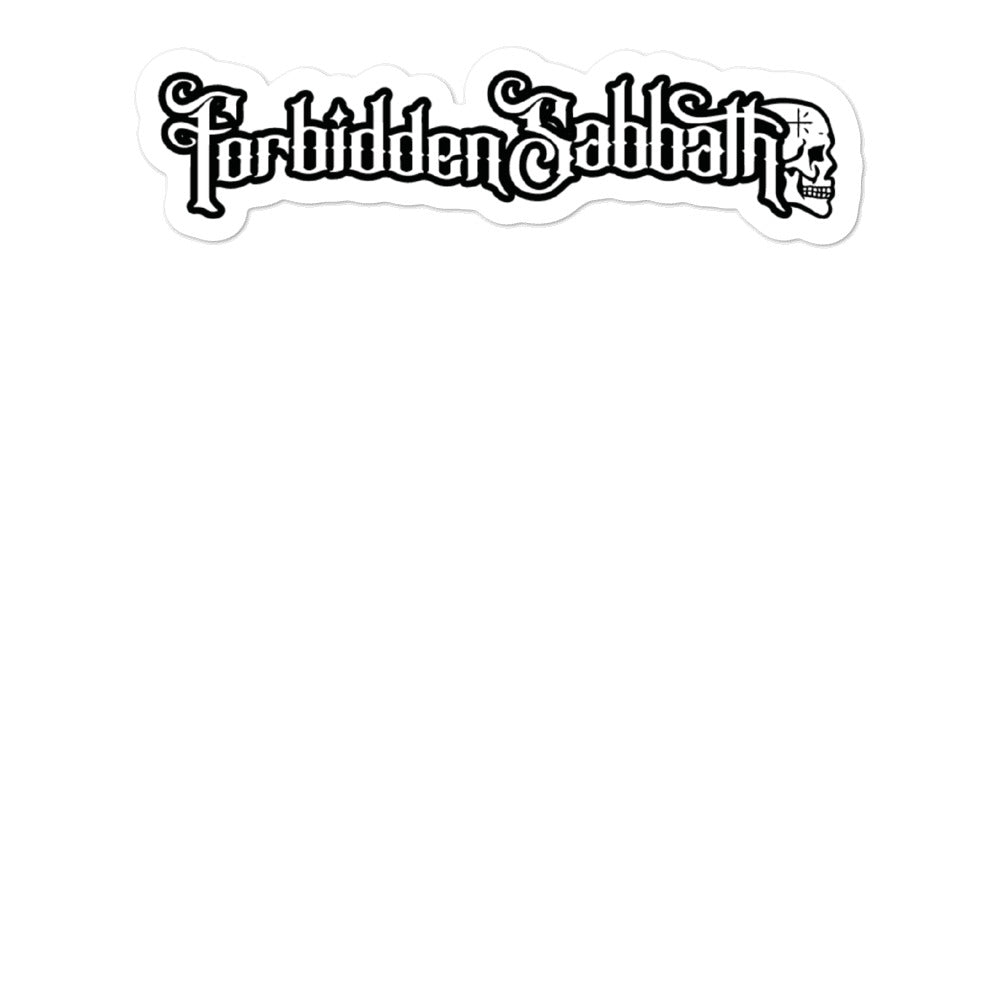FORBIDDEN SABBATH-BUBBLE FREE STICKERS