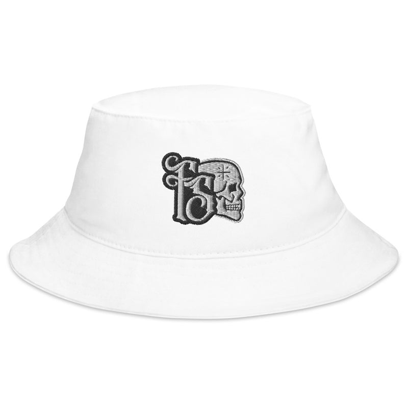 FORBIDDEN SABBATH ICON-WHITE ON WHITE-BUCKET HAT