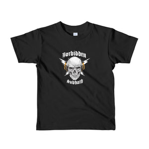 HI-FI Skull,Gold-Short sleeve kids t-shirt