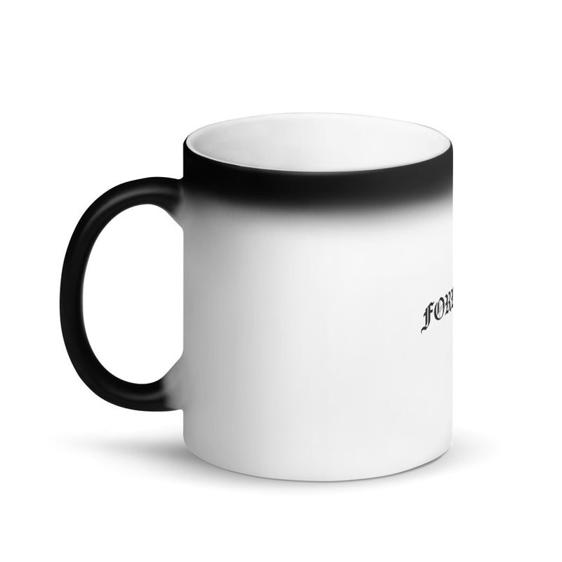 FORBIDDEN-IN OLD ENGLISH-MATTE BLACK MAGIC MUG