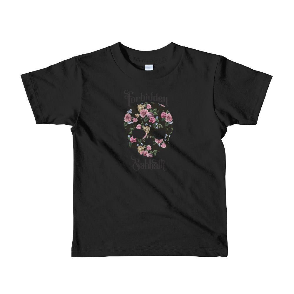 Flower Skull-Short sleeve kids t-shirt