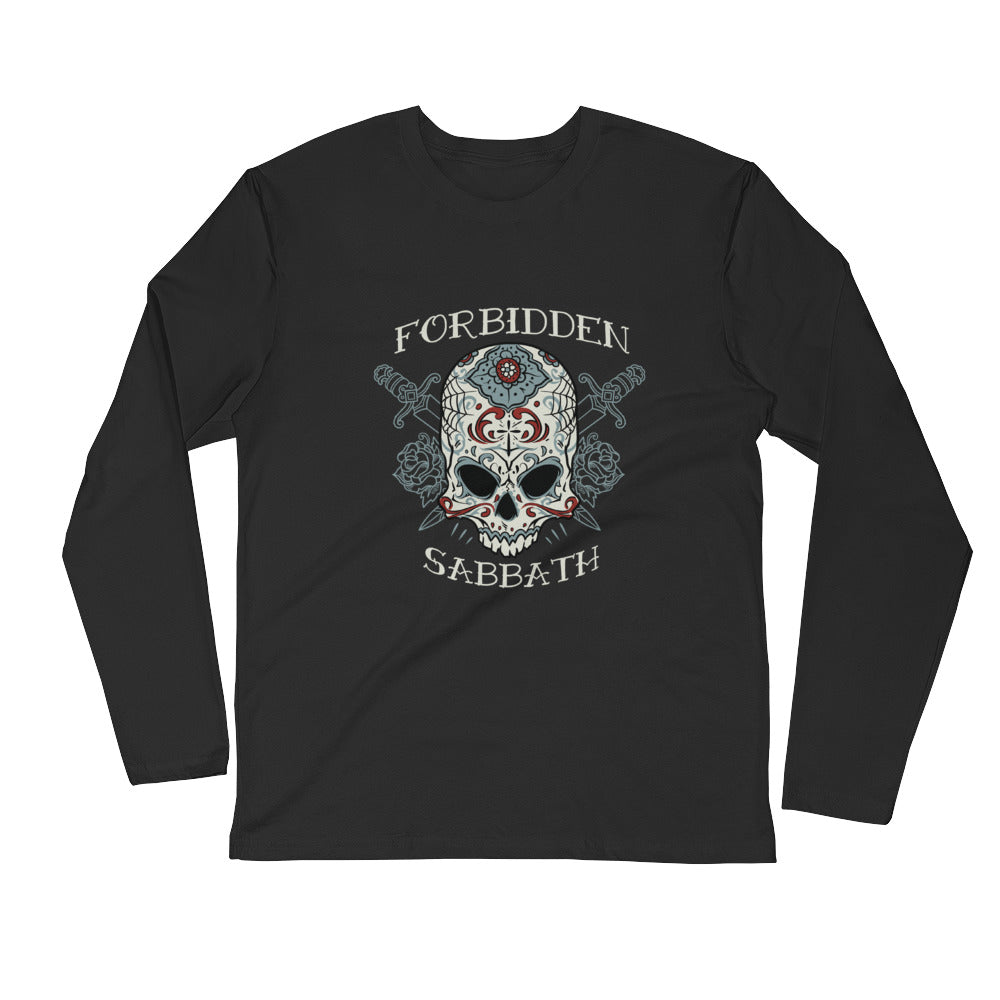 Day of The Dead Warrior-Long Sleeve Fitted Crew