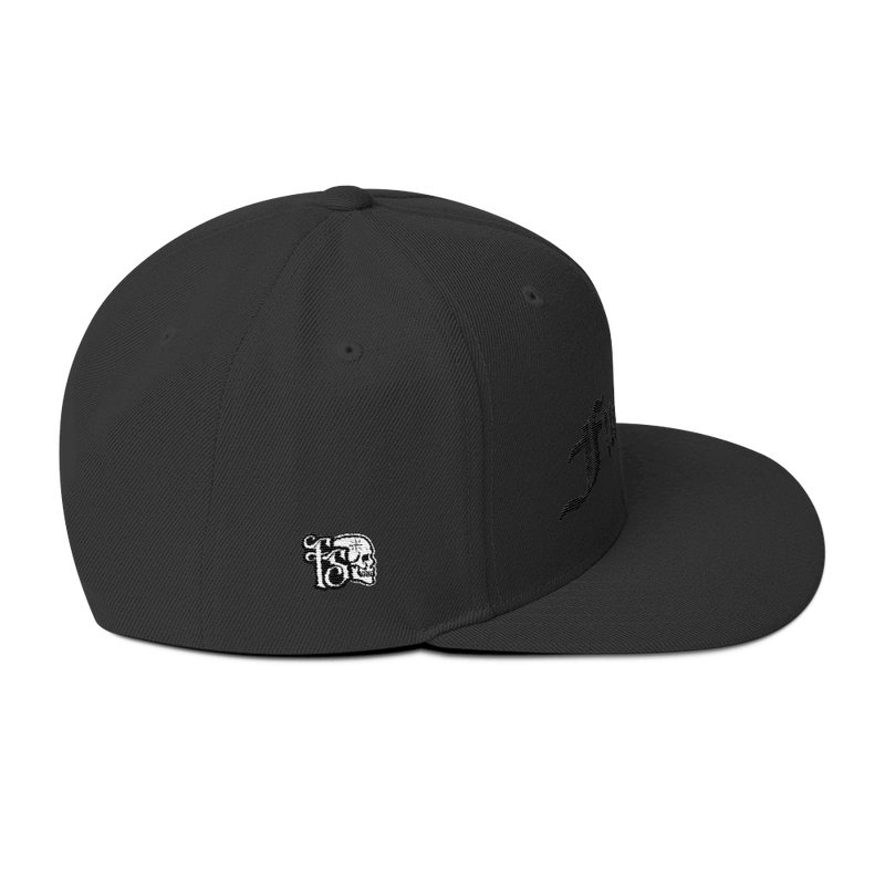 FUCK OFF-BLACK ON BLACK-Wool Blend Snapback