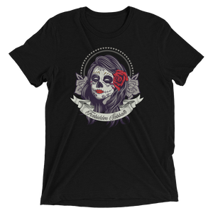 DAY of THE DEAD DARK ROSE-Short sleeve t-shirt