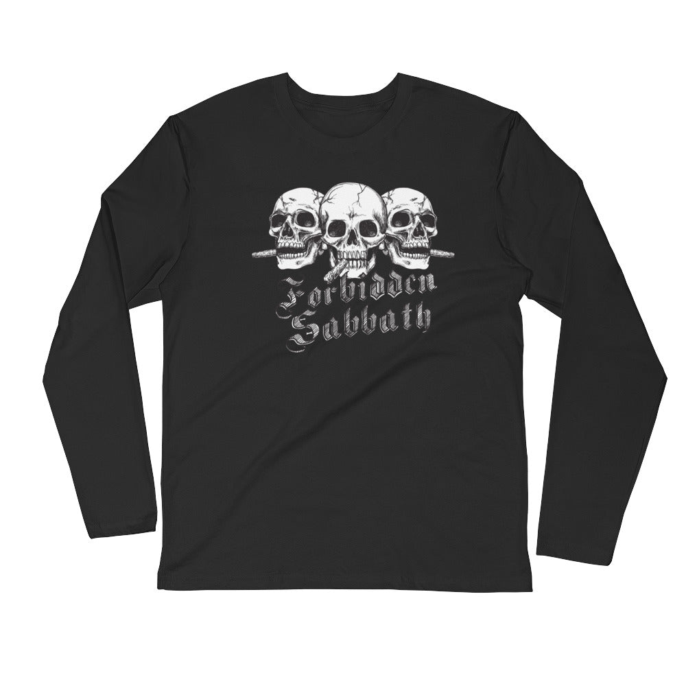 Cigar Smoken Trio-Long Sleeve Fitted Crew
