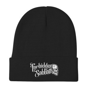 FORBIDDEN SABBATH LOGO-EMBROIDERED KNIT BEANIE