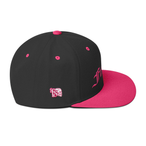 FUCK OFF PINK ON BLACK-Wool Blend Snapback