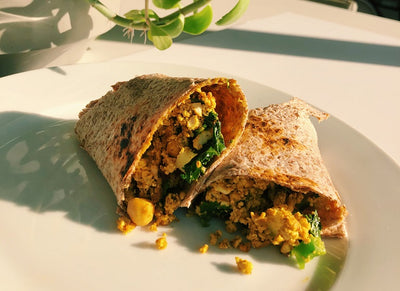 Vegan Tofu Scramble Breakfast Burrito