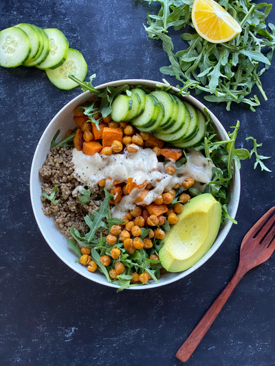 Sweet Potato + Chickpea Nourish Bowl
