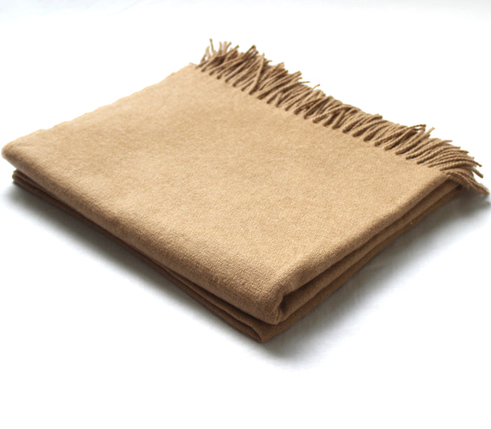 Cashmere Collection Throw Camel