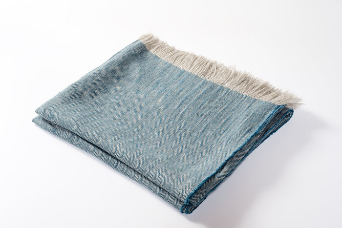 Linen Throw Turquoise