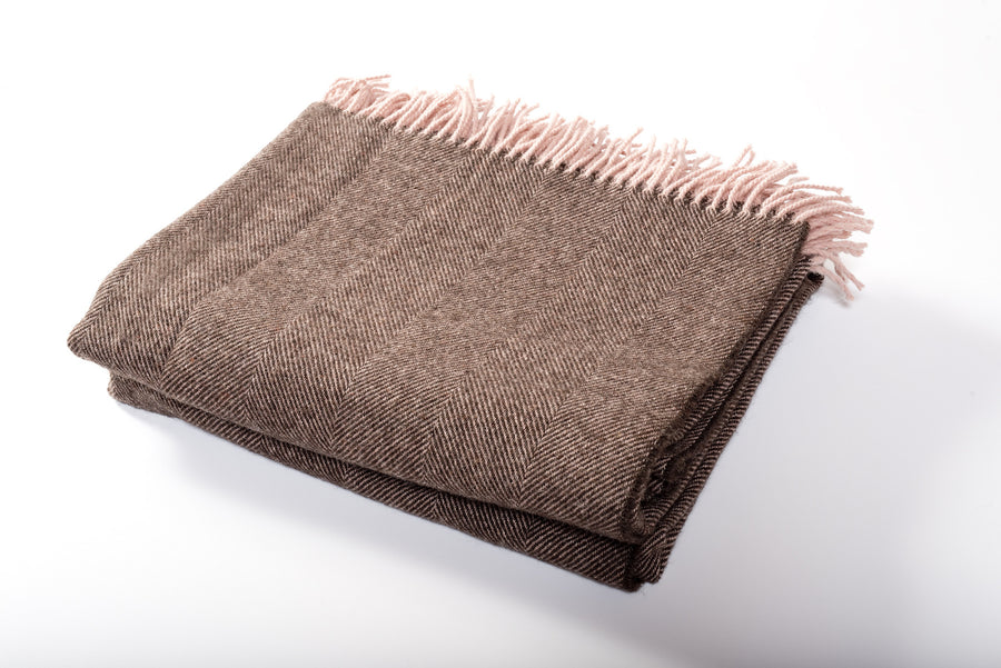 Herringbone Throw Cocoa