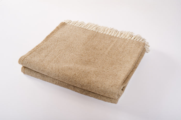 Merino Wool Collection Throw in Sepia