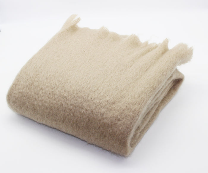 Luxe Mohair Throw Camel